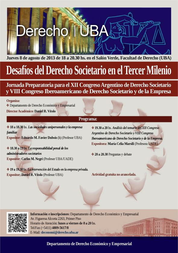 XII Congreso Argentino de Derecho Societario y VIII Congreso Iberoamericano de Derecho Societario y de la Empresa