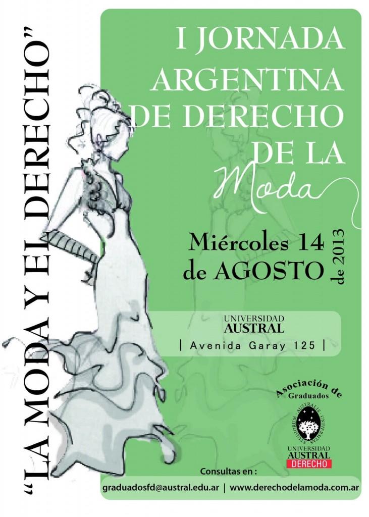 """PRIMERA JORNADA ARGENTINA DE DERECHO DE LA MODA """"La Moda y El Derecho"""""""