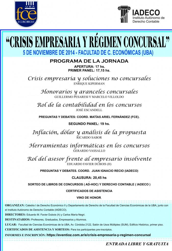 JORNADA CRISIS Y CONCURSOS. AFICHE